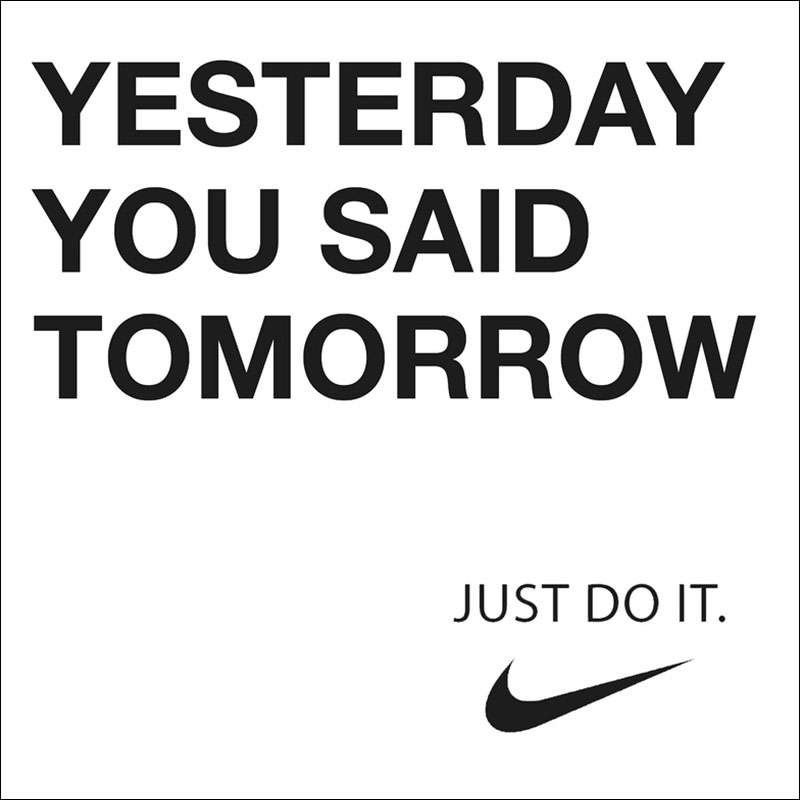 "Nike ""Just Do It"" advertisement."