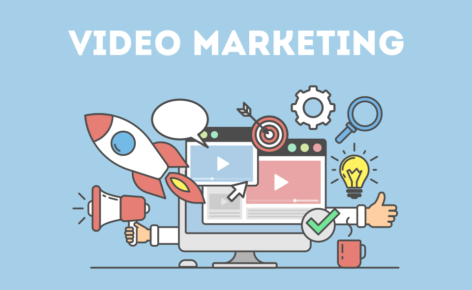 A video marketing collage.